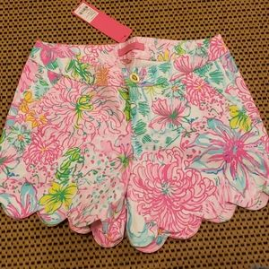 NWT Lilly Pulitzer buttercup stretch shorts sz 2